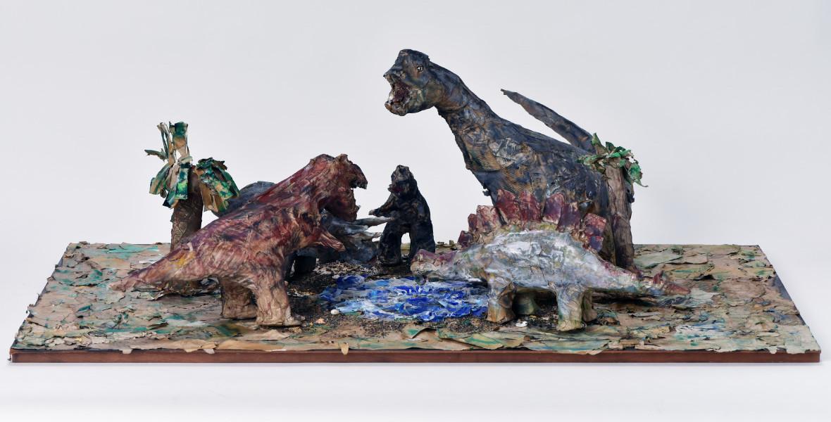 水辺に集まった異なる時代の恐竜たち(ミズベニアツマッタコトナルジダイノキョウリュウタチ)